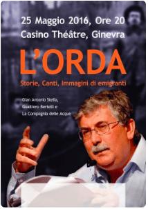 Evento Teatrale: L'Orda – 25 Maggio 2016