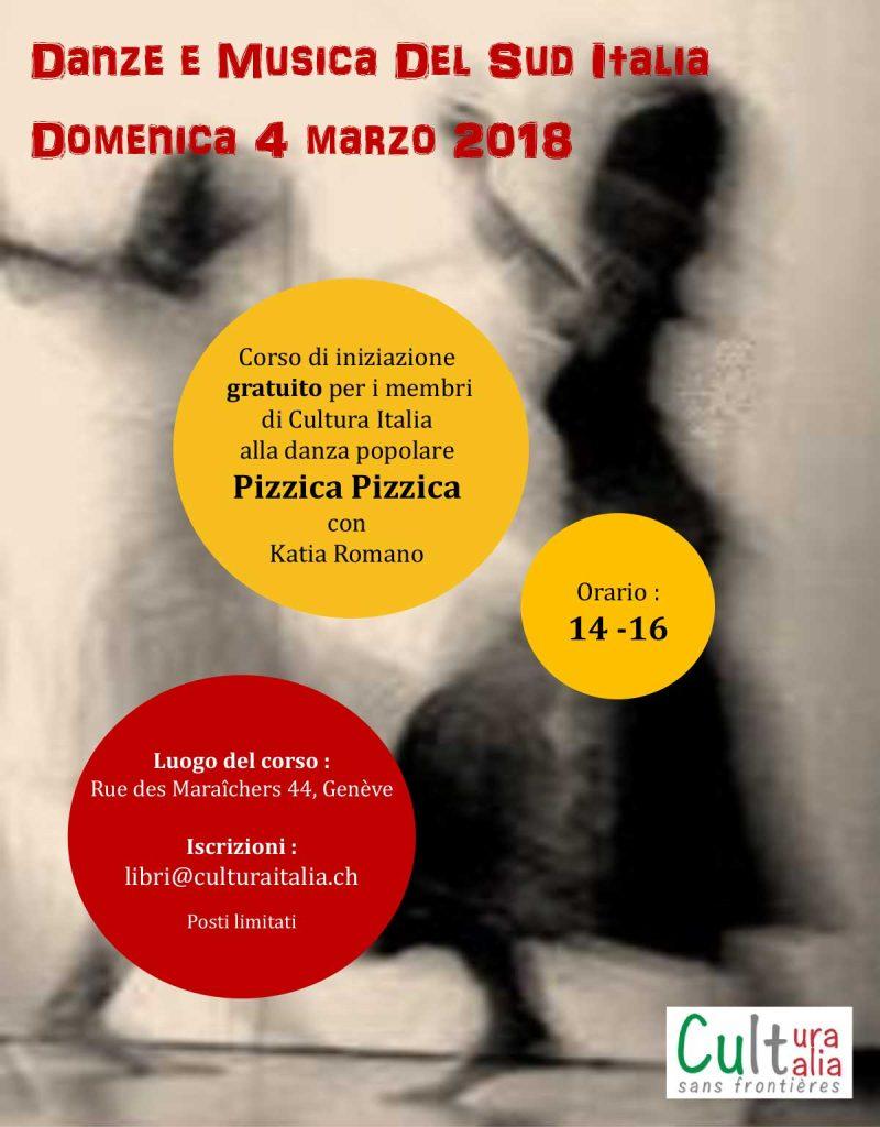 04 marzo 2018: Stage de Danse Pizzica Pizzica